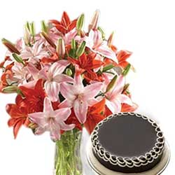 Send Online Mother's Day Flowers and Cakes to Chennai